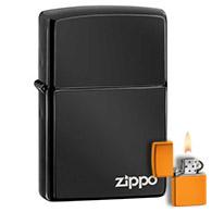Ebony Black Chrome Zippo Lighters