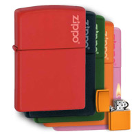 Matte Coloured Zippo Lighters