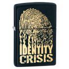 Identity Crisis Zippo Lighter in Black Matte - Zippo 28295