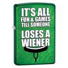 Meadow Green Loses a Wiener Zippo Lighter - Zippo 29345