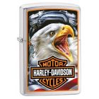 Harley Davidson Eagle Zippo Lighter in Brushed Chrome - Zippo 29499
