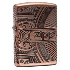 Multicut Armor Gears Zippo Lighter in Antique Copper - Zippo 29523