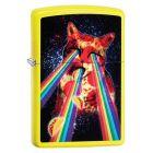 Pizza Cat Zippo Lighter in Neon Yellow - Zippo 29614