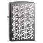 Zippo Script Zippo Lighter in Black Ice - Zippo 29631