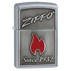 Zippo And Flame Zippo Lighter in Street Brushed Chrome - Zippo 29650