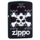 Jolly Roger Soccer Black Matte Zippo Lighter - Zippo 60003309