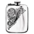 English Pewter Co. Celtic 6oz Captive Top Purse Hip Flask