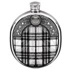 English Pewter Company 6oz Sporran Wedge Hip Flask