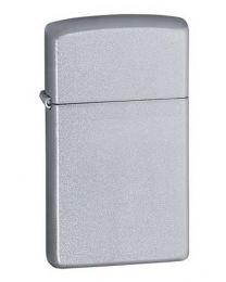 Plain Slim Zippo Lighter in Satin Chrome - Zippo 1605