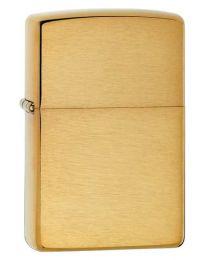 Plain Armor Zippo Lighter in Brushed Brass - Zippo 168