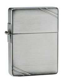1935 Replica Brushed Chrome Zippo Lighter with Slashes - Zippo 1935