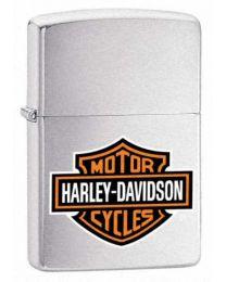 Harley Davidson HD Logo Zippo Lighter in Brushed Chrome - Zippo 200HDH252