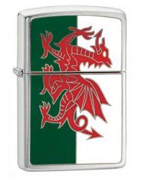 Welsh Flag Emblem Zippo Lighter - Zippo 200W