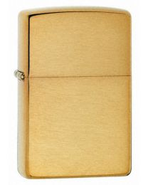Plain Zippo Lighter in Solid Brushed Brass - Zippo 204B