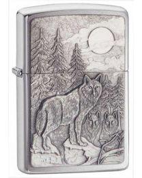 Timberwolves Zippo Lighter in Brushed Chrome - Zippo 20855