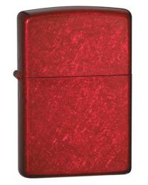 Plain Zippo Lighter in Candy Apple Red - Zippo 21063