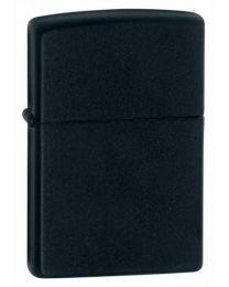 Plain Zippo Lighter in Black Matte - Zippo 218