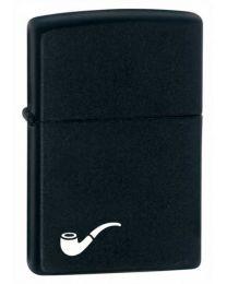 Black Matte Zippo PIPE Lighter - Zippo 218PL