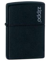 Black Matte Zippo Lighter with Zippo Logo - Zippo 218ZL