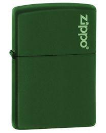 Green Matte Zippo Lighter with Zippo Logo - Zippo 221ZL