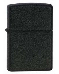 Plain Black Crackle Zippo Lighter - Zippo 236