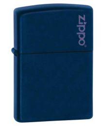 Navy Blue Matte Zippo Lighter with Zippo Logo - Zippo 239ZL