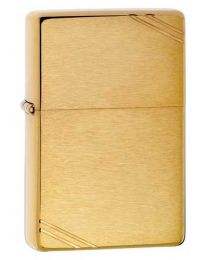 Plain Vintage Style Zippo Lighter in Brushed Brass - Zippo 240