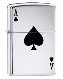 Lucky Ace Zippo Lighter in Polished Chrome - Zippo 24011