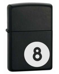 8 Ball Zippo Lighter in Black Matte - Zippo 28432