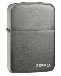 1941 Replica Zippo Lighter with Zippo Logo in Dark Chrome - Zippo 24485