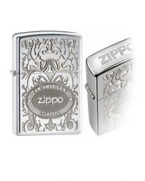 American Legend Zippo Lighter in Polished Chrome - Zippo 24751