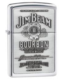 Jim Beam Emblem Zippo Lighter in Polished Chrome - Zippo 250JB928