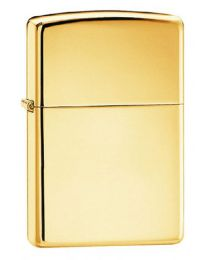 Plain Zippo Lighter in Solid Polished Brass - Zippo 254B