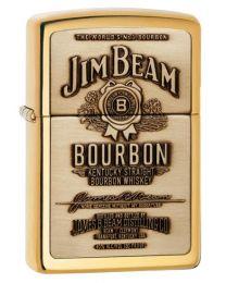 Jim Beam Emblem Zippo Lighter in Polished Brass - Zippo 254BJB929