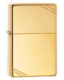 Plain Vintage Style Zippo Lighter in Polished Brass - Zippo 270