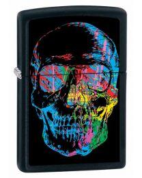 X-Ray Skull Zippo Lighter in Black Matte - Zippo 28042