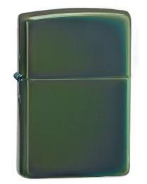 Plain Zippo Lighter in Chameleon (Polished Green Chrome) - Zippo 28129