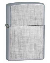 Linen Weave Plain Zippo Lighter in Brushed Chrome - Zippo 28181
