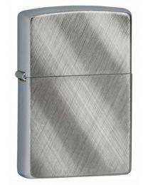 Diagonal Weave Plain Zippo Lighter in Brushed Chrome - Zippo 28182
