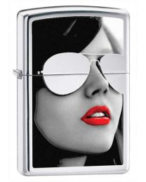 BS Sunglasses Zippo Lighter in Polished Chrome - Zippo 28274