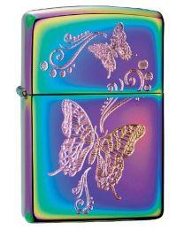 Butterflies Zippo Lighter in Spectrum Chrome - Zippo 28442