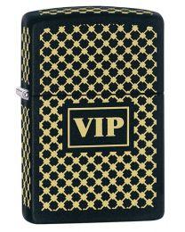 VIP Matte Black Zippo Lighter - Zippo 28531