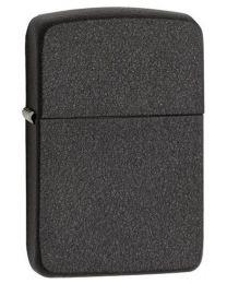 Plain 1941 Replica Black Crackle Zippo Lighter - Zippo 28582