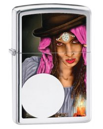 Fortune Teller Polished Chrome Zippo Lighter - Zippo 28656
