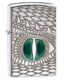 Dragon Eye Armor Zippo Lighter in Polished Chrome - Zippo 28807