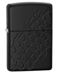 Armor Tyre Tread Zippo Lighter in Black Matte - Zippo 28966