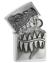 Fire Breathing Dragon Surprise Emblem Zippo Lighter - Zippo 28969
