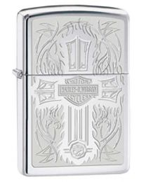 Harley Davidson HD Cross Polished Chrome Zippo Lighter - Zippo 28982