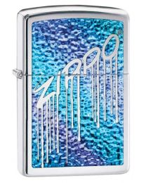 Liquid Fusion Polished Chrome Zippo Lighter - Zippo 29097