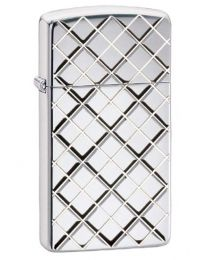 Argyle Slim Armor Polished Chrome Zippo Lighter - Zippo 29186